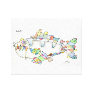 love fish love canvas print