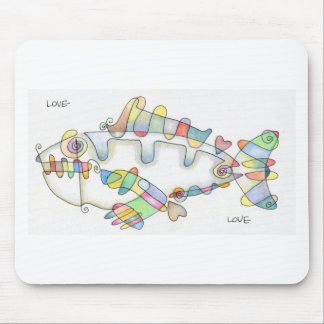 love fish love mouse pad