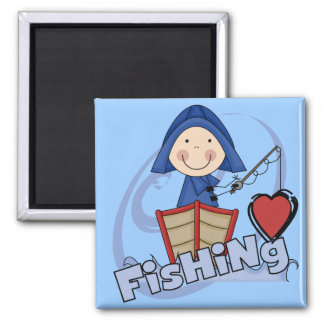 Love Fishing - Boy Tshirts and Gifts Magnet