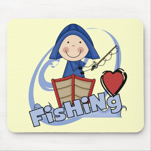 Love Fishing - Boy Tshirts and Gifts Mouse Pad
