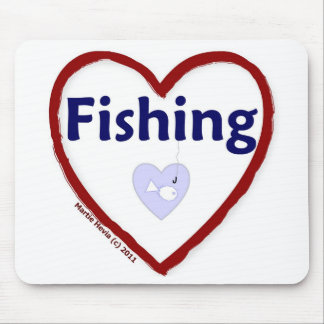 Love Fishing Mouse Pad