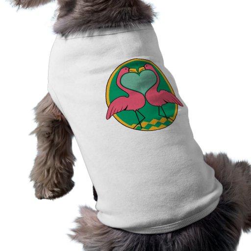 Love Flamingos Doggie Tshirt