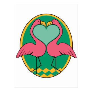 Love Flamingos Postcard