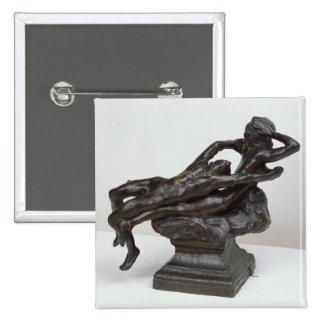 Love Fleeing, 1881 Pinback Button