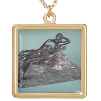 Love Fleeing, 1883-84 (bronze) Gold Plated Necklace