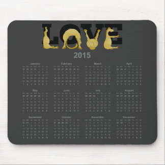 LOVE flexible pony calendar 2015 Mouse Pad