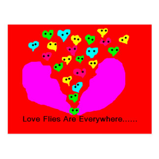 love flies postcard