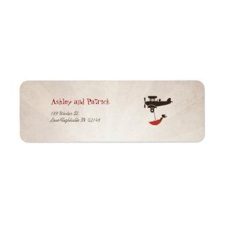 LOVE FLIGHT Adress Label
