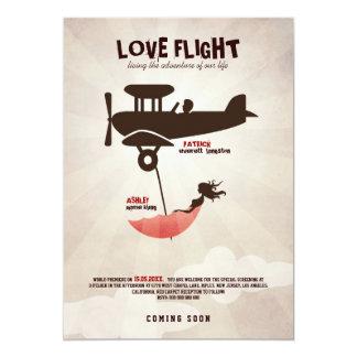 LOVE FLIGHT  Wedding Invitation