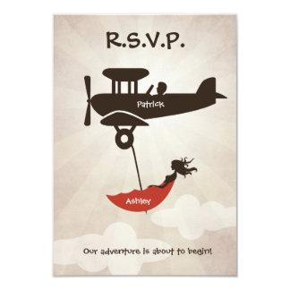 LOVE FLIGHT  Wedding RSVP Invitation