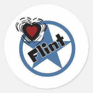 Love Flint Round Sticker