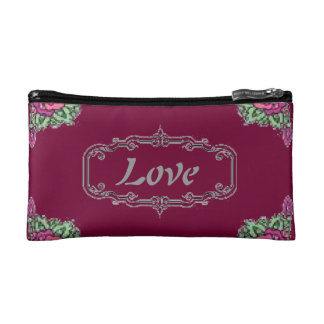 Love Floral Cosmetic Bag