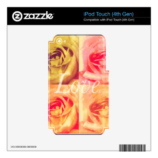Love Floral Design iPod Touch 4G Skins