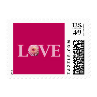 Love Floral Postage Stamp