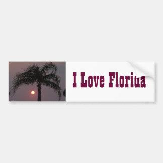 Love Florida Bumper Sticker Car Bumper Sticker