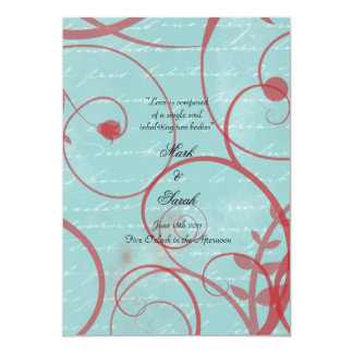 Love Flourishes Blue Wedding Program