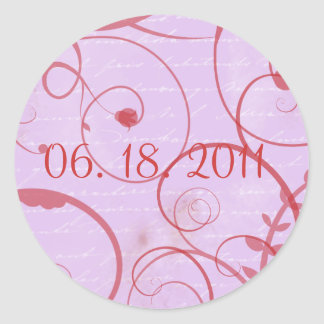 Love Flourishes Lavender Sticker