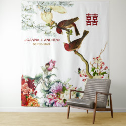Love Flourishing Birds & Flowers Chinese Wedding © Tapestry