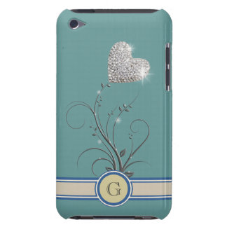 love flower add name initial Case-Mate iPod touch case