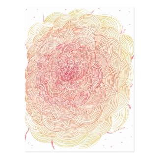 Love, flower, and heart for good karma postcard