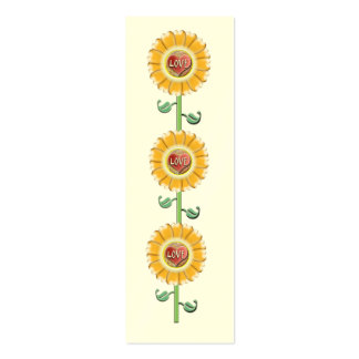Love Flower Bookmark Double-Sided Mini Business Cards (Pack Of 20)