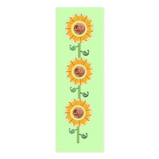 Love Flower Bookmark Mini Business Card