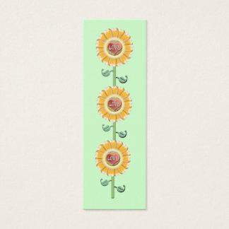 Love Flower Bookmark Mini Business Card