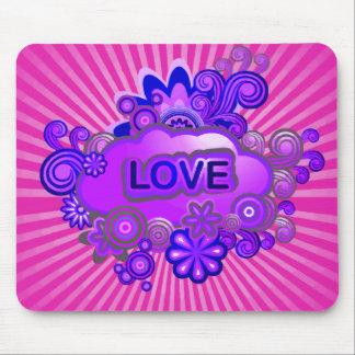 Love Flower Burst Mouse Pad