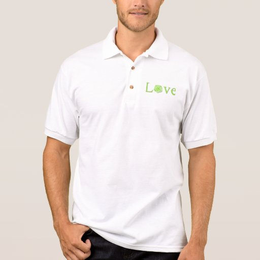 Love Flower Green Polo T-shirts