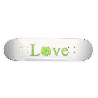 Love Flower Green Skateboard Deck