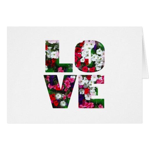 love - flower greeting card