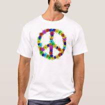 Love Flower Peace Sign T-Shirt