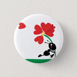 love flower pinback button