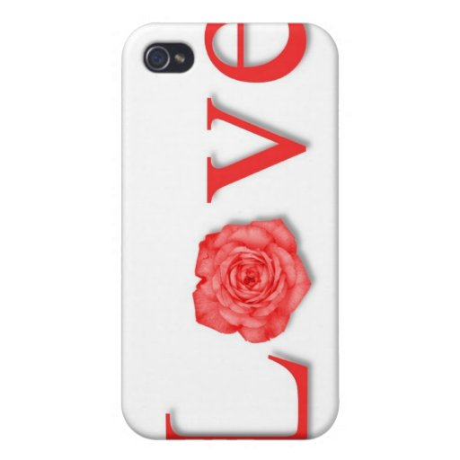 Love Flower Red iPhone 4/4S Case