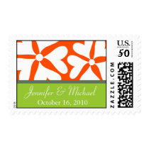 Love Flower Save the Date Postage Stamp