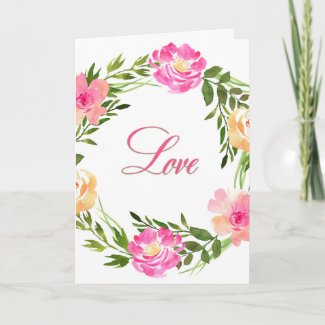 Love Flower Wreath Mother's Day Card