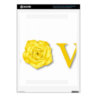 Love Flower Yellow Xbox 360 Console Decal