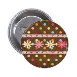 Love Flowers 2 Inch Round Button