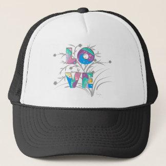 LOVE flowers and twirls Trucker Hat