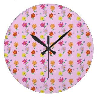 Love Flowers Large Clock