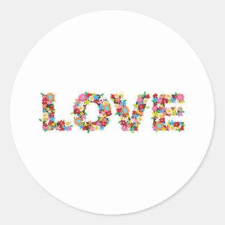 Love flowerz classic round sticker