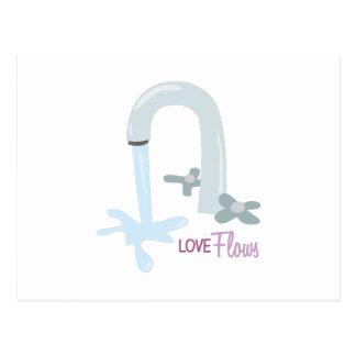 Love Flows Postcard