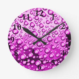 Love Flows,Purle_ Round Clock