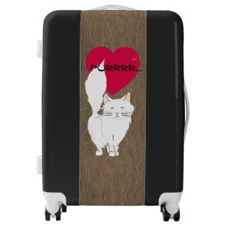 Love Fluffy White Cat Traveling Companion Luggage