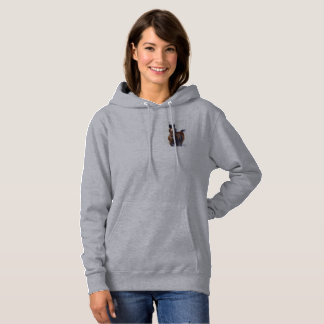 Love Foal Horse Hoodie Sweatshirt Light Gray