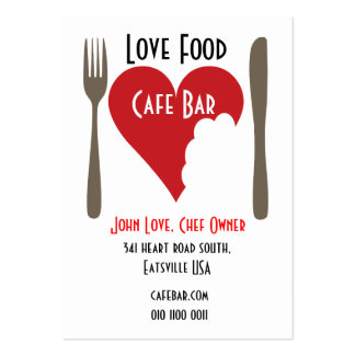 Love food business card concept