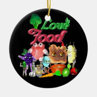 Love Food by Valxart.com Ceramic Ornament