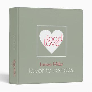 love food, favorite recipes, chef binder