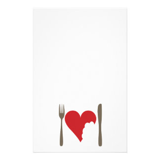 Love food, love Heart Stationery