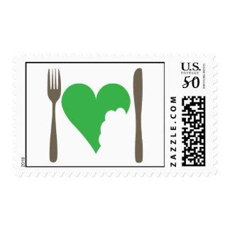 Love food, Love Veggie Postage